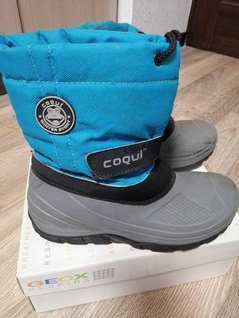 Продам сапоги детские зимние для мальчика Coqui размер 32-33
