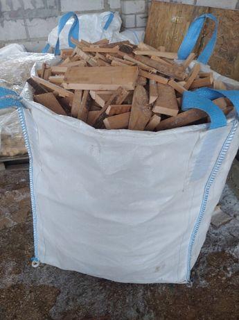 Drewno bukowe big-bag, suche do kominka, pieca, rozpałka