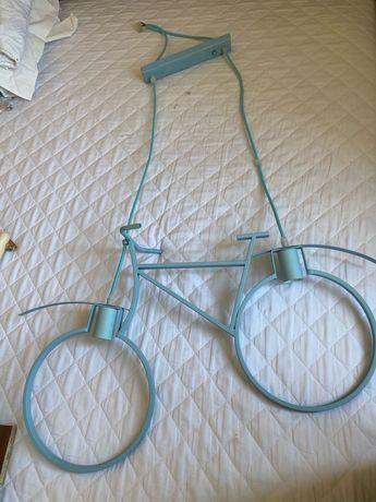 Світильник велосипед, блакитний