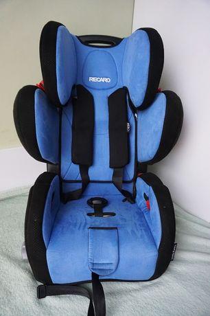 Fotelik RECARO Young Sport niebieski jak nowy! WAWA
