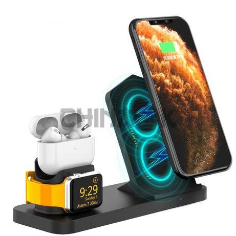 Док-станция для одновременной зарядки iPhone, AirPods и Apple Watch