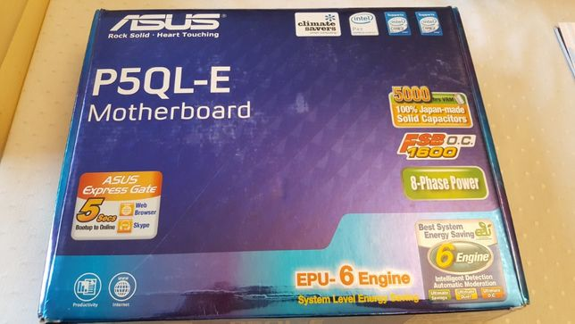ASUS P5QL-E + INTEL Core 2 DUO E8400 3.00 GHz + 4GB RAM