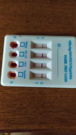 Тесты на 4 вида инфекций СПИД гепатит В и С, и сифилис Цена 120гр.
