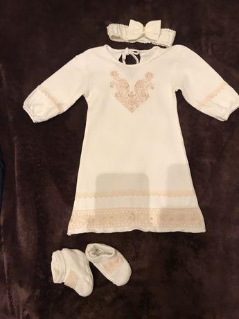 Продам платье на крестины девочки 3-6 месяцев