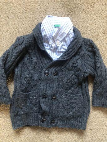 Komplet koszula i sweter