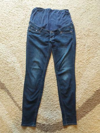H&M HM Mama niebieskie spodnie jeansy / dżinsy ciążowe skinny rurki 38