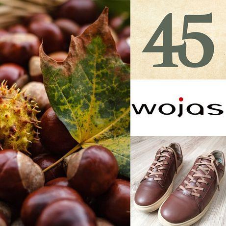 45. 100% Skórzane trampki, buty, półbuty Wojas.