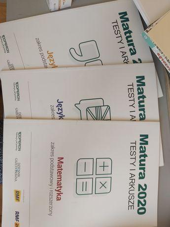 Testy i arkusze maturalne operon polski matematyka angielski