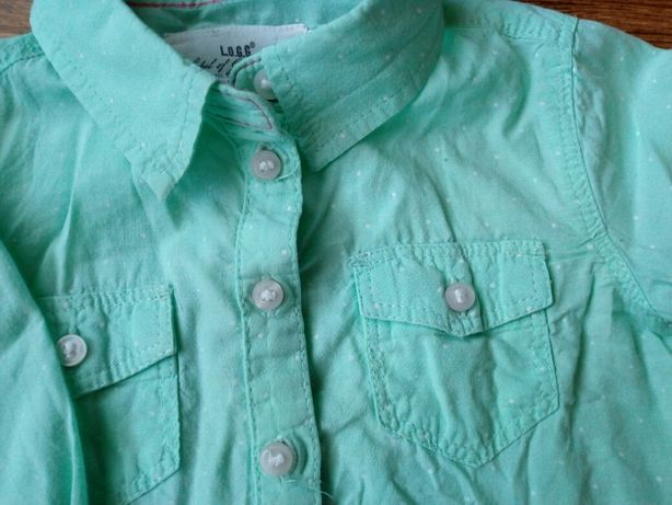 Koszula bluzka H&M miętowa zielona