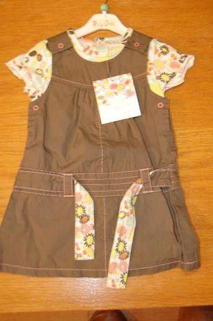 Sukienka, nowy komplet bluzka krótki rękaw i sukienka Pick Ouic