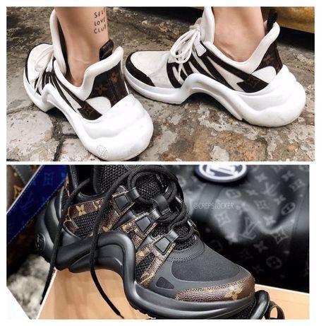Louis Vuitton Archlight Monogram Стильные кроссы Черные\Белые Топ цена