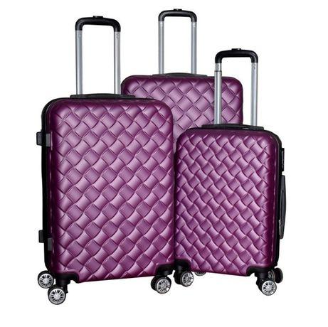 1407 Zestaw walizek na kółkach lekkie XL L M FIOLETOWE nowe wytrzymałe