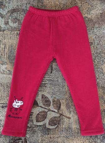 Теплые штаны лосины рост 104