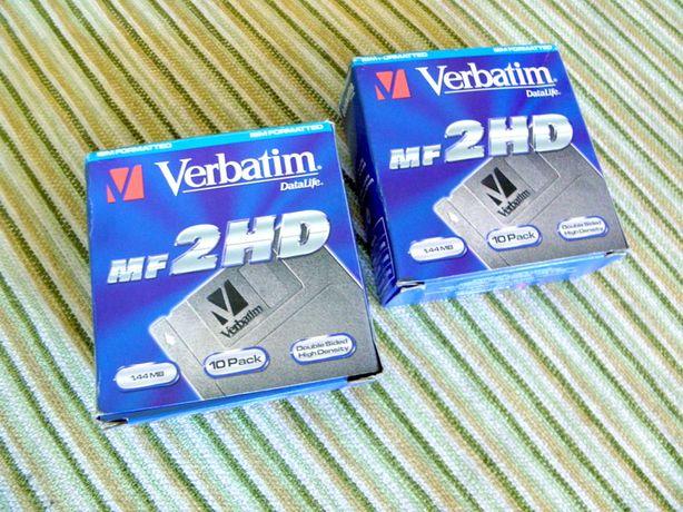 Verbatim mf 2 hd 1,44 mb dyskietka dyskietki nowe 16 sztuk