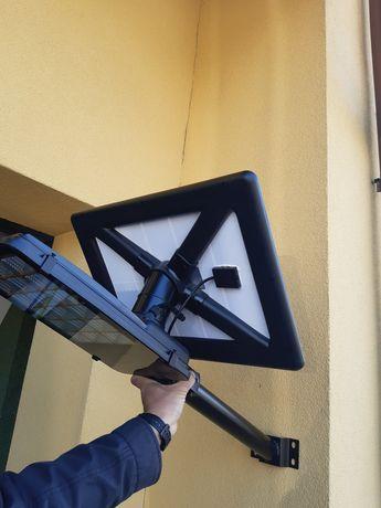 Lampa solarna z obrotowym panelem slonecznym