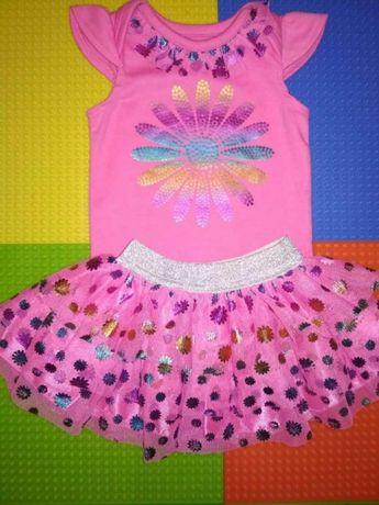 Шикарный наряд для принцессы,костюм, набор, костюмчик (бодик, юбочка)