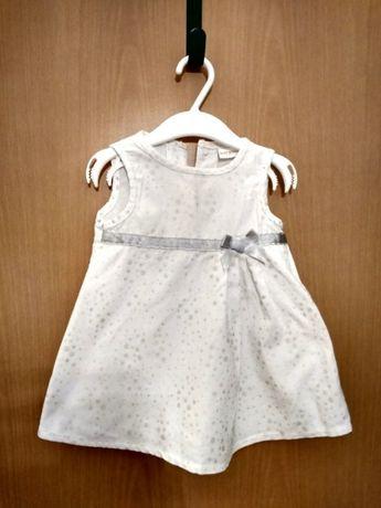 Biała elegancka sukienka rozm 74 Baby Boutique