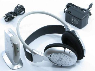 Bezprzewodowe słuchawki vivanco fmh 6055 radiowe JAK NOWE! 100m zasieg