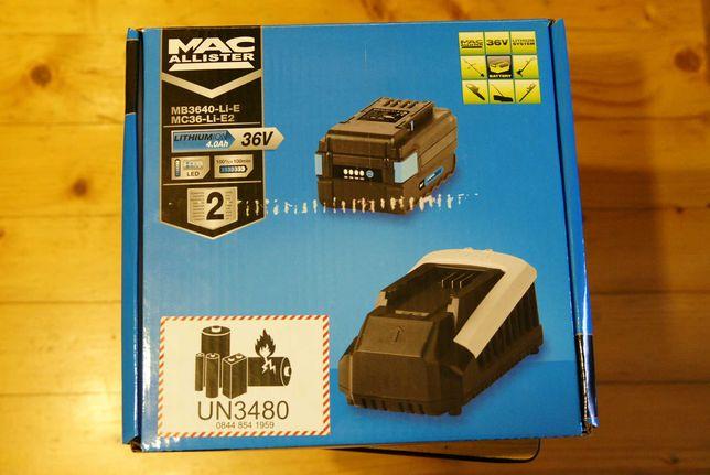 Nowy! MacAllister, akumulator 36 V, 4 Ah z ładowarką- kosiarki, kosy