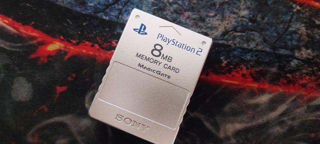Karta pamięci PS2 orginalna. Silver 8MB