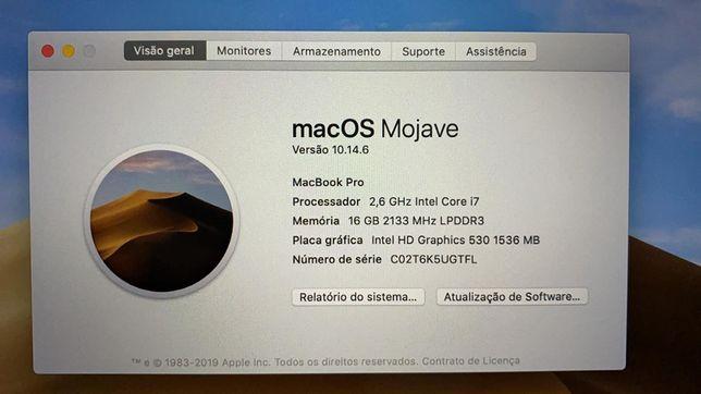 """MacBook Pro 15""""   i7, 16Gb RAM, 256Gb SSD   TouchBar"""
