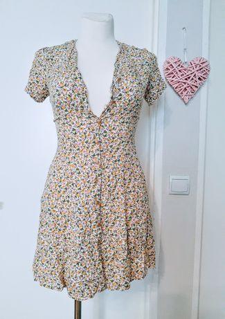 Sukienka w kwiaty szmizjerka XS/S
