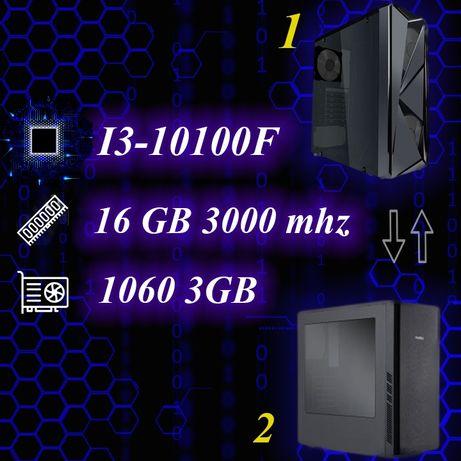 Игровой компьютер, ПК на i3-10100f и 1060 3gb