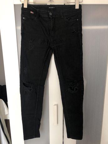 spodnie jeansy skinny z dziurami diverse