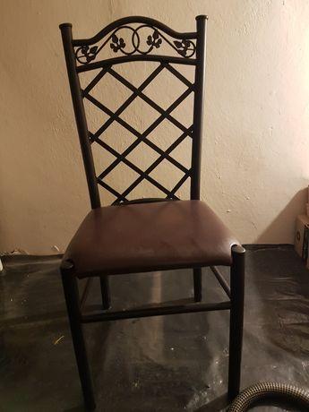 Komplet do jadalni szklany stół i 6 krzeseł