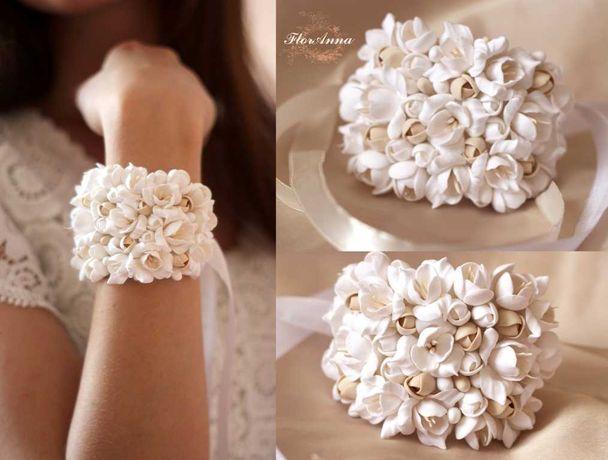 Свадебный браслет ручной работы для невесты или свидетельницы