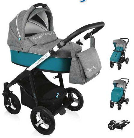 Wózek 2w1 Baby design husky pompowane koła