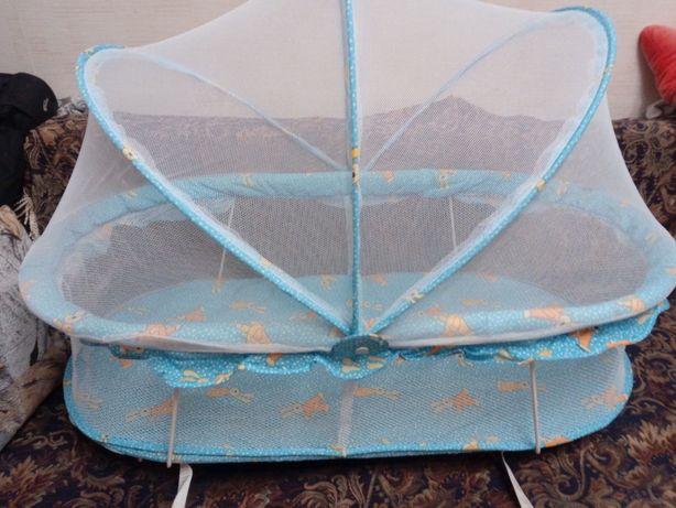 Люлька geoby летняя на колесиках