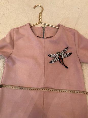 Платье тёплое на девочку, 8-9 лет