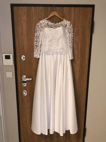 Suknia ślubna biała, wzrost 174 cm