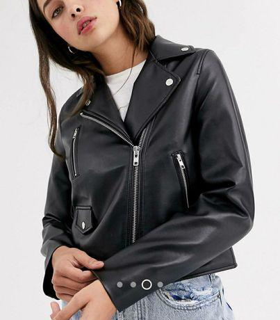 Кожаная куртка Asos