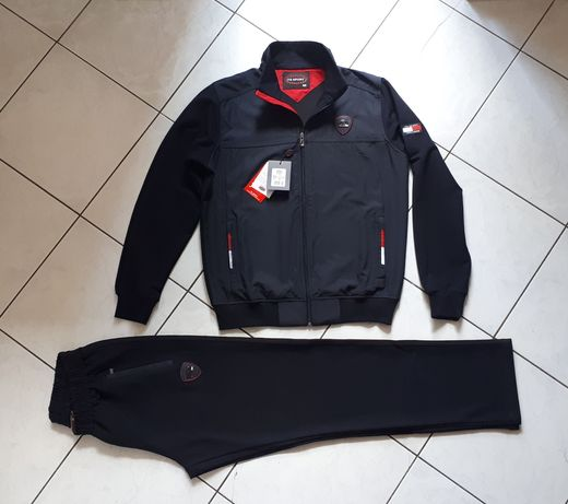 Спортивный костюм мужской турецкий темно синий красный белый хаки