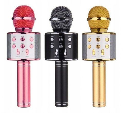 Bezprzewodowy Mikrofon Karaoke z Bluetooth i głośnikiem KOLORY