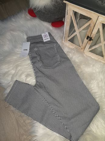 Spodnie w paski sinsay 38
