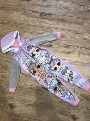 Флисовый человечек ромпер комбинезон пижама LOL ЛОЛ