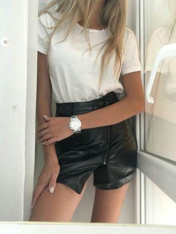 Крутая кожаная юбка H&M