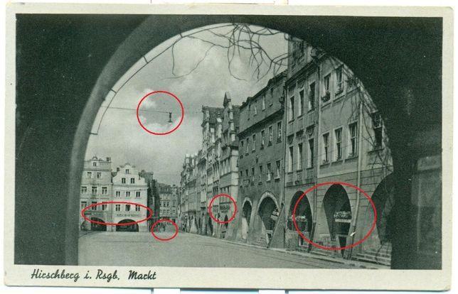 Hirschberg i. Rsgb. Markt Walter Staudte Postkarte Pocztówka