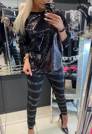 Elegancki komplet dres cekiny paparazzi fashion