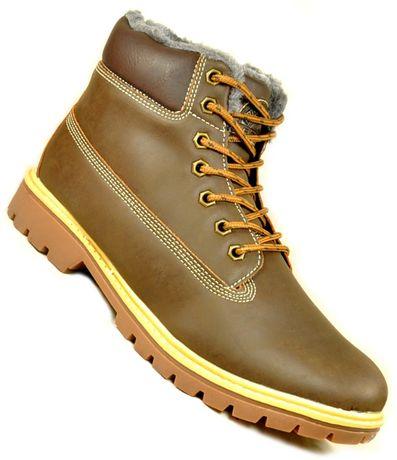 M1248 ŚNIEGOWCE Zimowe buty BRĄZOWE wysyłka ze Skierniewic r.41-46