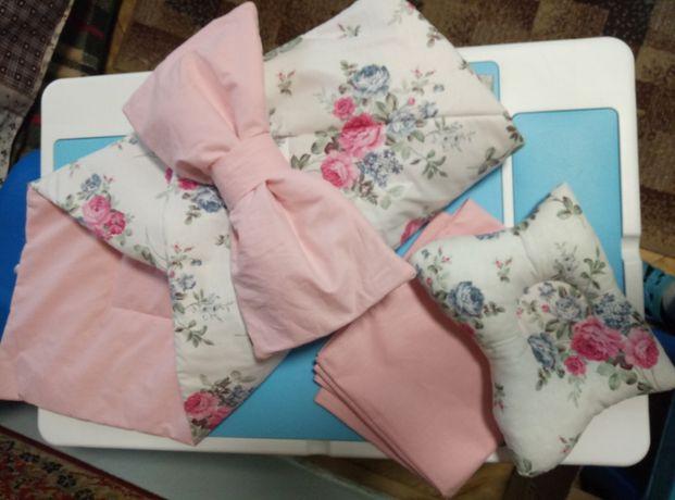 Конверт(комлект з 3ьох) на виписку з роддому /одеяло