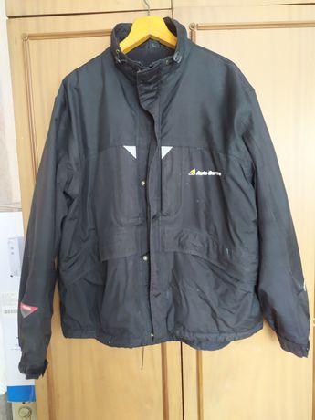 Куртка мужская демисезонная на флисе. Непромокаемая. 54р черная