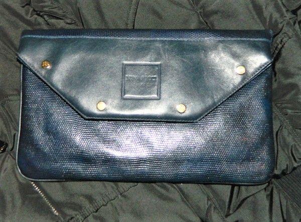 Женский клатч Nina Ricci Blue Leather RaRe Vintage(Dior Hermes)