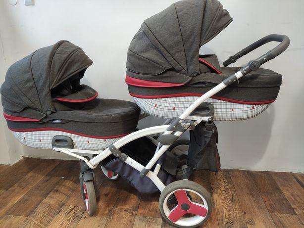Wózek bliźniaczy Tako Junama Duo doa bliźniaków bliźniąt podwójny rok