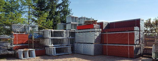 Rusztowanie fasadowe-elewacyjne 96m2 15m długie 6,4m wysokie Kielce
