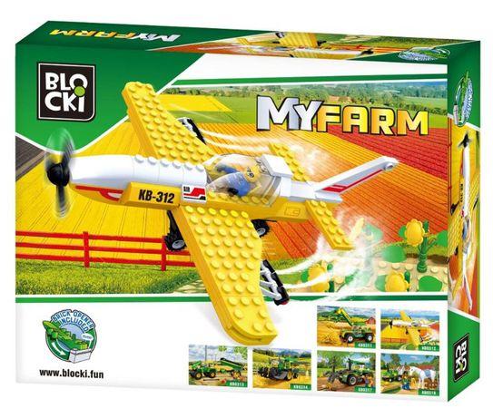 Klocki Blocki MyFarm Samolot do oprysków pola KB0312