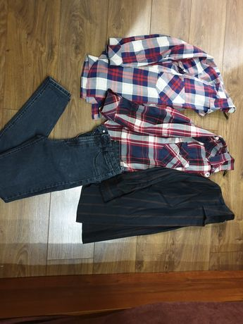 Spodnie koszula s 36 zara stradivarius